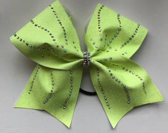 Yellow bow with a/b crystals.