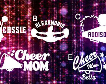 Personalized Cheer Decals