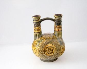 Unusual Vase by Bay - 82-20, WGP, West German Pottery, Mid century - twin neck