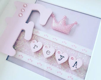 Personalised princess frame