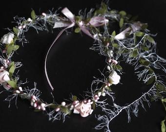 """Flower pattern """"Fanfreluche"""" Tiara Crown"""