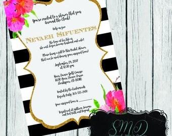 Around the Clock Kate Spade Inspired Bridal Shower Invite