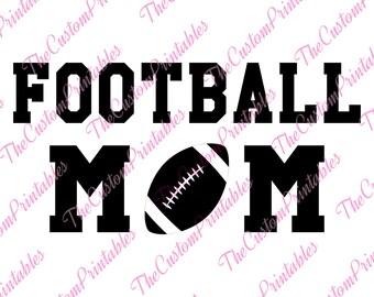 Football, Mom, Mother, Soccer, Ball ,SVG, Cricut Files, Silhouette Files, Cameo, Vector, T-shirt, Iron On