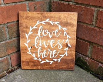 Love Lives Here- Light Brown