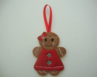 Gingerbread Girl Christmas Tree Decoration