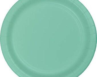 Mint Small Plates / Mint Plates / Bridal Shower Plates / Wedding Plates / Birthday Plates / Mint Party Plates / Mint Paper Plates