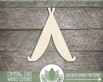 Camping Tent Wood Cut Shape, DIY Laser Cut Wood Shapes, Cowboy Tent Wood Shape Cut Out, DIY Home Decor Wood Shapes, Nursery Wall Art