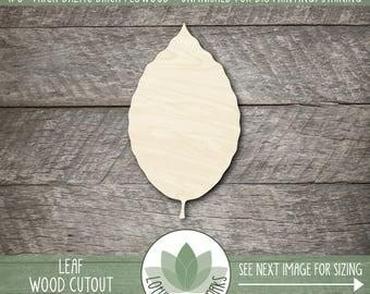 Wood Leaf Laser Cut Out, Fall Leaf Decoration, Wooden Beech Leaf, Thanksgiving Table Decoration, Fall Wedding Favor, DIY Laser Cut Shapes