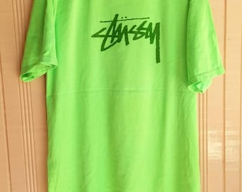 Vintage STUSSY Big Logo Spell Out t shirt / STUSSY streetwear