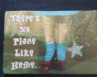 Wizard of Oz Ruby Slipper puzzle postcard