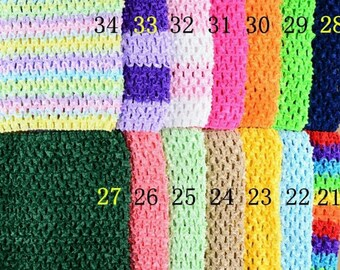 STRAPLESS stretch clear Rainbow crochet for creating dress 0-16 month TUTU