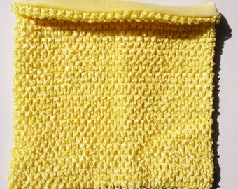 STRAPLESS stretch 2 to 6 years old yellow clear Double hook for making tutu dress costume