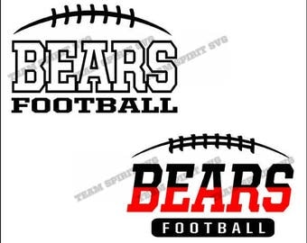 Bears Football Laces Download Files - SVG, DXF, EPS, Silhouette Studio, Vinyl Cut Files, Digital Cut Files -Use with Cricut and Silhouette