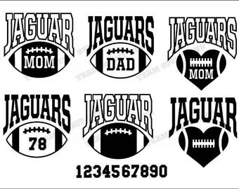 Jaguars Big Football Mom Download Files - SVG, DXF, EPS, Silhouette Studio, Vinyl  Files, Digital Cut Files -Use with Cricut and Silhouette