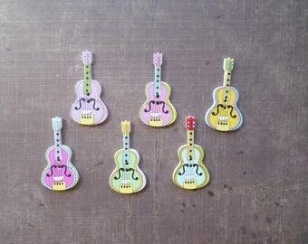 buttons 10 wood guitar Musical Instrument