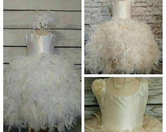 SALE..limited time only elegant flower girl dress,ivory flower girl dress,white flower girl dress,rustic flower girl dress,tutu flower girl
