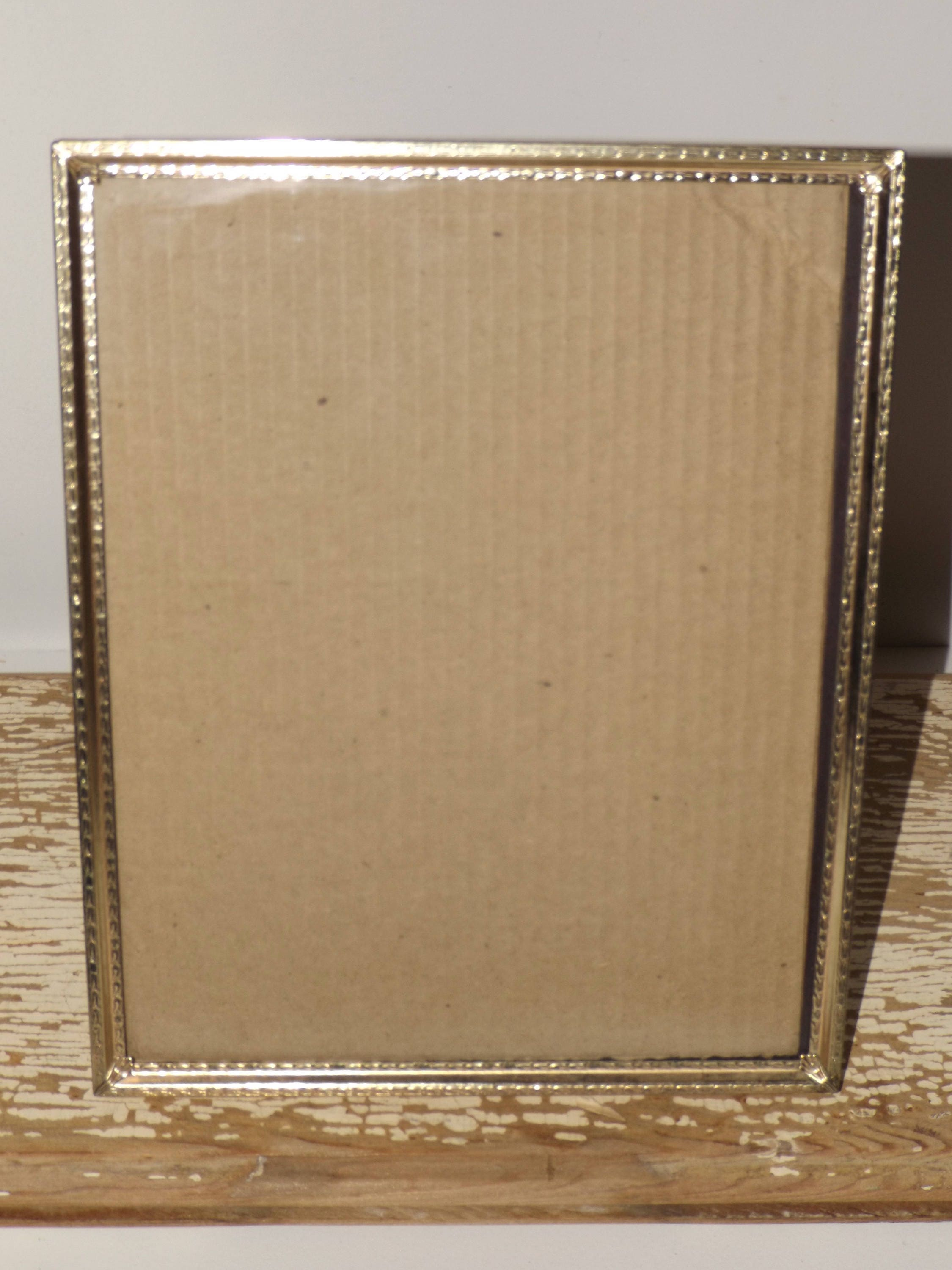 Gold tone picture frames8 x 10set of 3glass frontornate gold sold by mythreesonsvintage jeuxipadfo Images