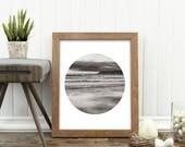 black and white print, Coronado Beach photo, San Diego photography, beach photograph, California, printable art, modern decor, geometric