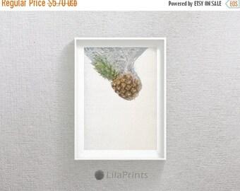 SALE Pineapple Photo, Tropical Print, Fruit Print, Pineapple Wall Art, Pineapple Wall Print, Pineapple Print Art, Fruit Art, Kitchen Wall De