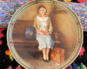 """Norman Rockwell plate--1985--""""A Young Girl's Dream"""""""