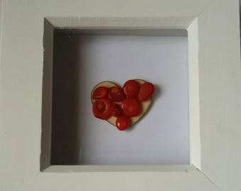 Handmade Valentine's and Mothers day frames