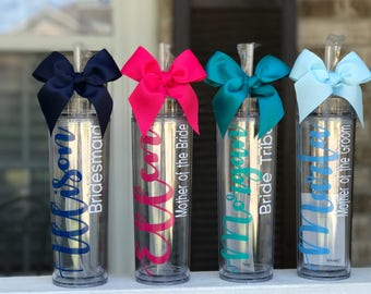 Personalized Tumbler, Personalized Wedding Gift, Personalized Gift, Personalized water bottle, Bridesmaid Gift,  Favor gift