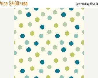 Sale Birch Organic Cotton Fabric - Mod Basics 3 - Pop Dots Boy