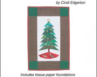 Little Bits Trim the Tree III Pattern by Cindi Edgerton, Paper Piecing Pattern