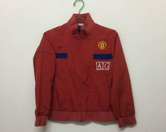 Manchester United Training Jacket/Womens Nike Manchester United Jacket/Sportswear Activewear/Red/Size XS