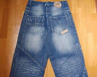 Dada Supreme jeans, vintage Damani baggy jeans, 90s hip-hop clothing, 1990s hip hop shirt, old school, OG, gangsta rap, size W 34