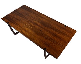Rosewood coffee table by Peter Hvidt & Orla Mølgaard-Nielsen, France and Son