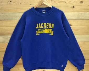 Rare! Vintage Jackson by Russell Athletic Sweatshirt Crewneck Size L