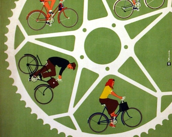 Vintage Czech Cycling Poster
