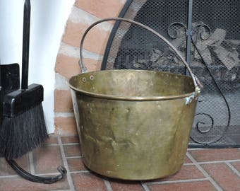 Medium Brass Bucket by H. W. Hayden