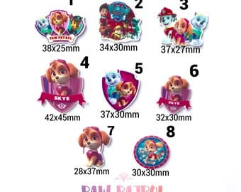 Mix, 5 or 10 inspired paw patrol  planar resin, embellishment,bow center.