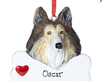 Collie Personalized Christmas Ornament, Ornament, Personalized, Collie, Collie Gift