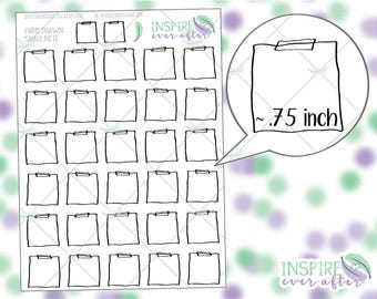 Hand Drawn Small Top Washi Note ~ Planner Stickers