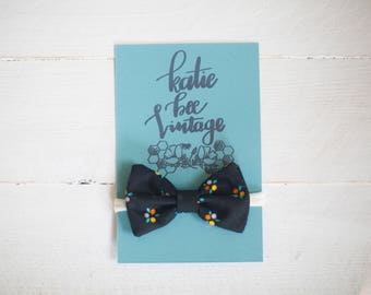 Hair Bow and Clip on Bow Tie