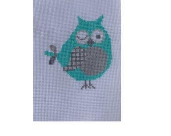 OWL embroidery handmade cross-stitch (sewing counted)