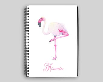 Flamingo Notebook ~ Personalized Flamingo Journal ~ Custom Flamingo Diary ~ Notebook ~ Personalized Gift ~ Flamingo Gift ~ Journal