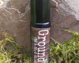 Ground Me Smudge Protection Oil BLACK TOURMALINE Grounding Protection Sacred Cleansing Crystal Stone Healing 1.3oz