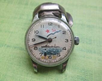 RARE Vintage Soviet USSR Russian watch POBEDA 1956 1MCHZ