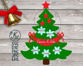 Family tree svg, Christmas tree svg, Family Christmas tree svg, Christmas svg file, Family Christmas svg, Tree svg, Celebrate Christmas, dxf