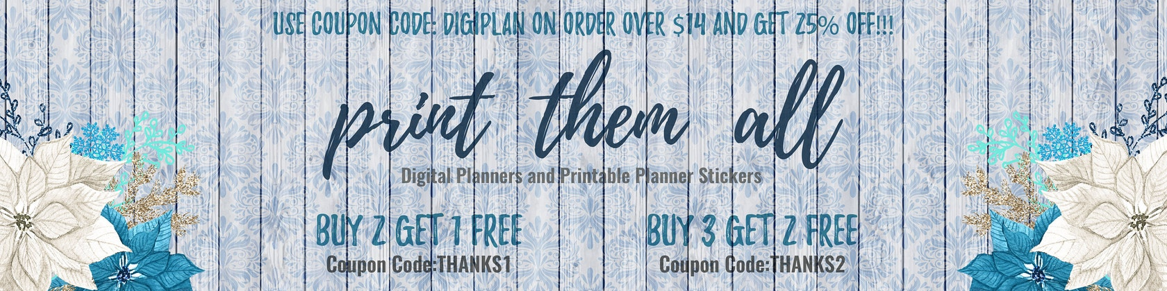 Printable planner stickers digital planner by printthemallstudio printthemallstudio fandeluxe Gallery