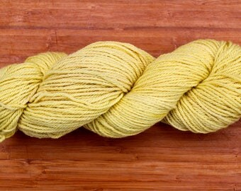 Yellow plant dyed 100% wool yarn