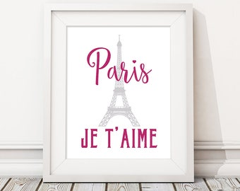 Paris decor bedroom, Apartment decor, France print, Home art, Paris apartment, Eiffel tower print DIGITAL DOWNLOAD