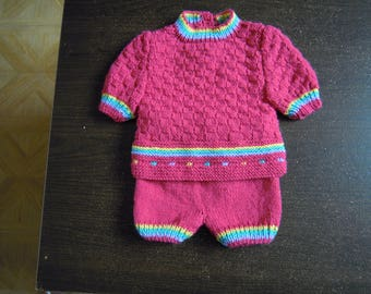 overall sweater and 1 month baby girl summer shorts