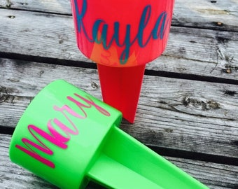 FlashSALE Beach Sand Spiker Drink Holder Beach Spike Cup Monogram Personalized Custom Gifts for Her Family Vacation