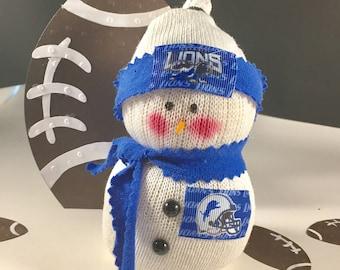 Detroit Lions,Lions football,Snowman,NFL,NFL Lions,Gift for Lions fan,Lions clothing,Lions decor,Lions accessory,Lions collectible,Lions