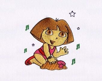 Dora embroidery etsy - Dora a la plage ...